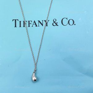 Authentic Tiffany & Co Silver Tear Drop Necklace